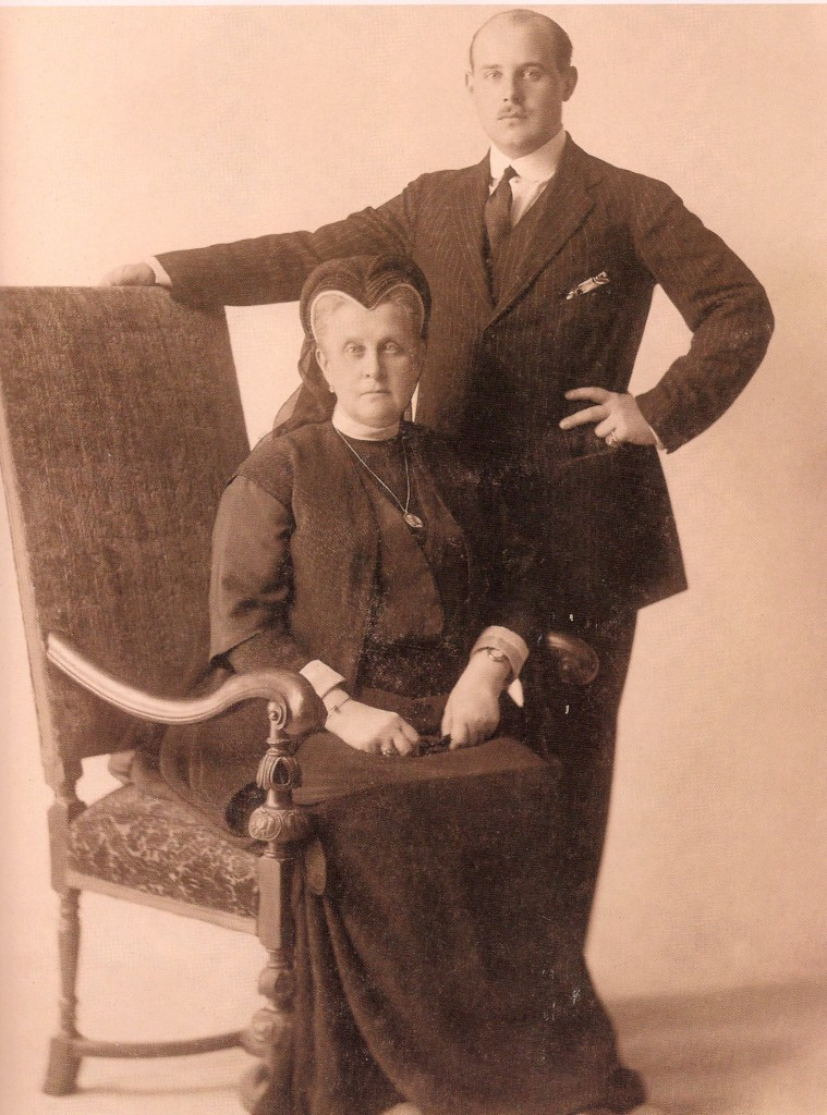 Christopher I of Greece with Grand Duchess Olga Constantinovna of Russia, his mother