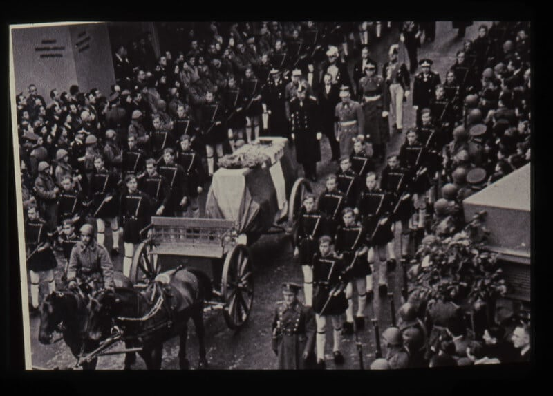 My father's funeral in Athens, January 1940.