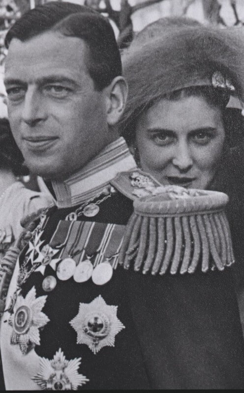 Wedding of Prince Paul of Greece and Princess Frederika of Hanover at the Royal Palace in Athens.