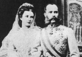 Emperor Franz Joseph and his wife the empress Elisabeth