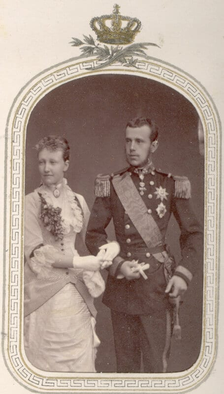 Archduke Rudolf with his wife, Stephanie of Belgium.