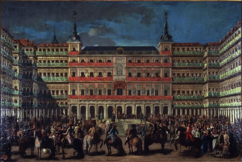 plaza-mayor-madrid-1700-charles II-spain